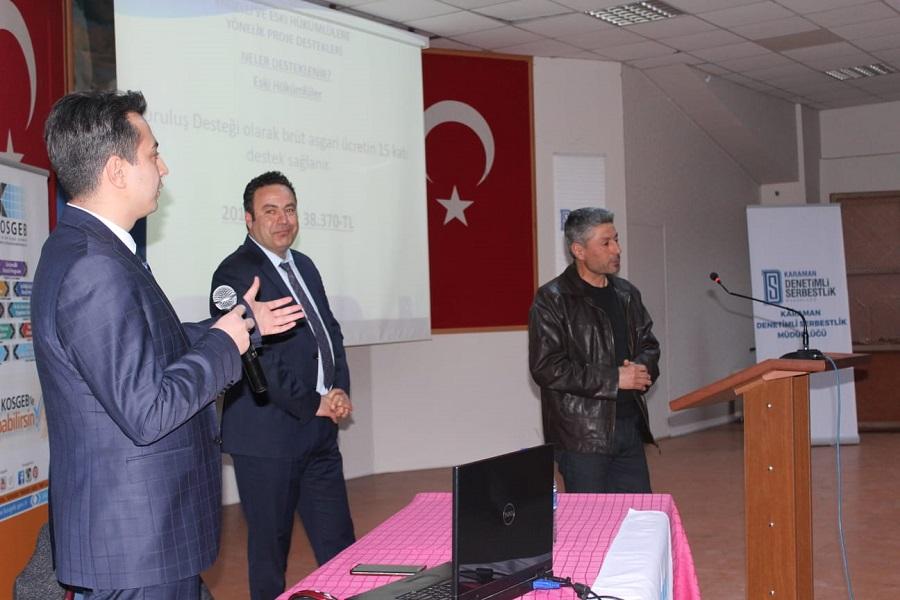 Karaman'da , Denetimli Serbestlik Kapsamında Semineri Düzenledik