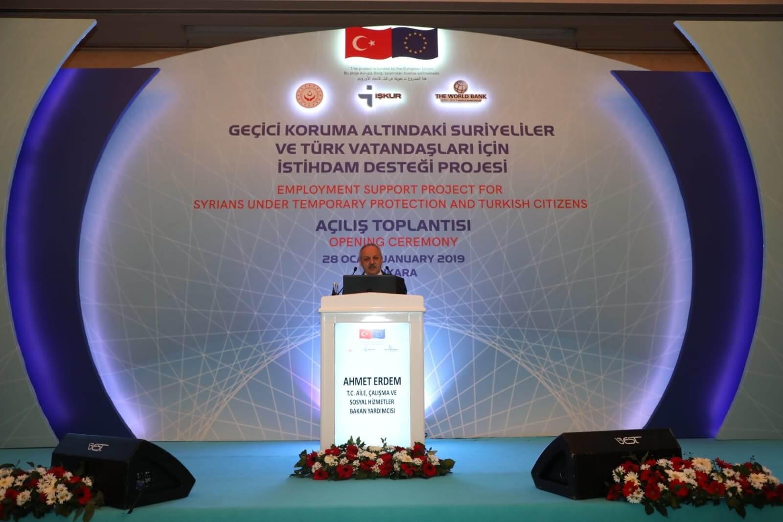 Geçici Koruma Altındaki Suriyeliler ve Türk Vatandaşları İçin İstihdam Desteği Projesi Açılış Toplantısı Ankara'da Yapıldı