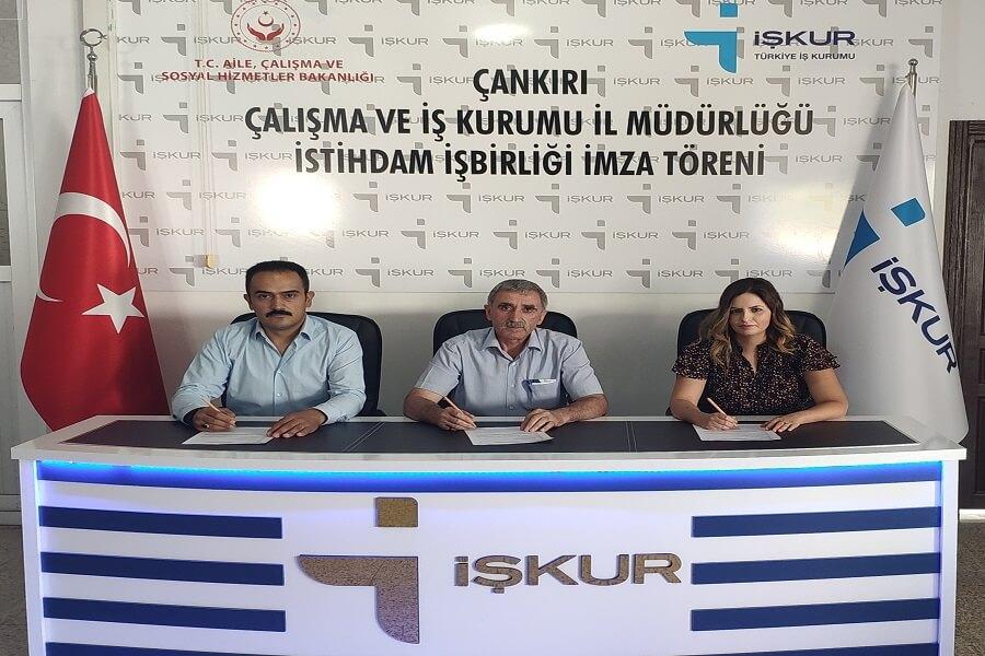 Çankırı'da İşbaşı Eğitim Programı Protokolü İmzaladık
