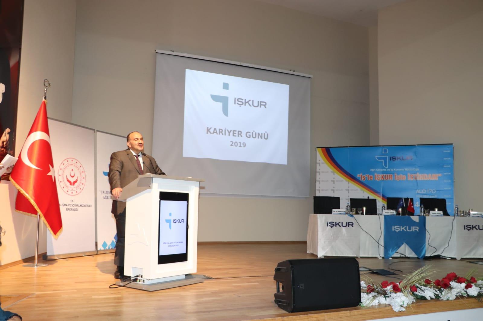 Ağrı İŞKUR Kariyer Gününü Genel Müdürümüz Cafer Uzunkaya'nın Katılımıyla Düzenledik