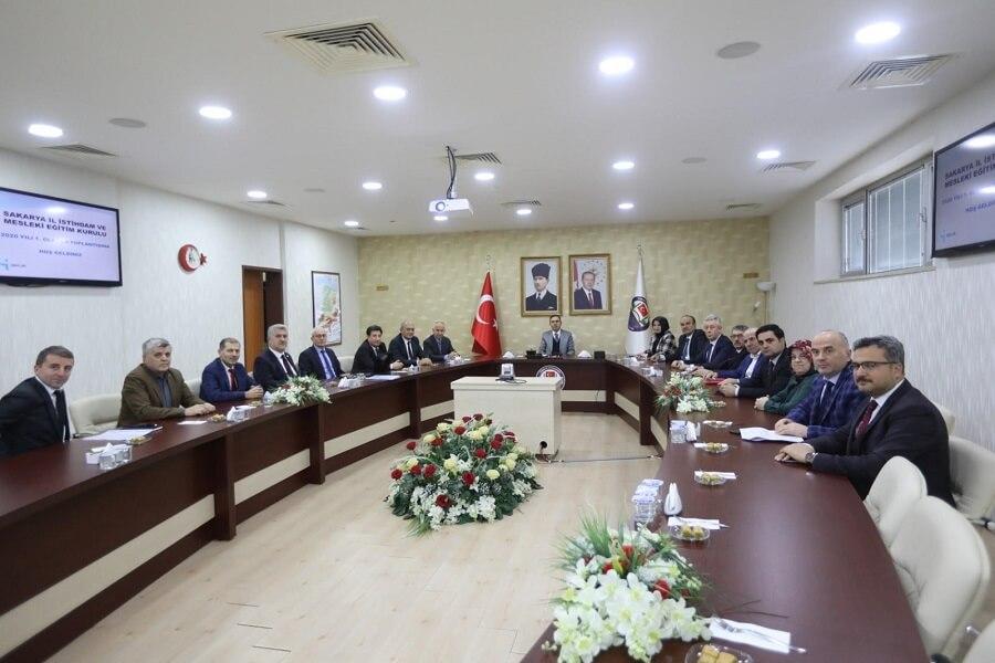 Sakarya'da İl İstihdam ve Mesleki Eğitim Kurulu Toplantısı Gerçekleştirildi