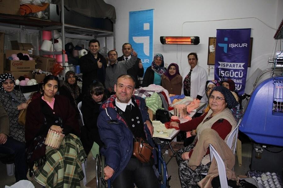Isparta'da Engelli Mesleki Eğitim Kursumuzu Ziyaret Ettik
