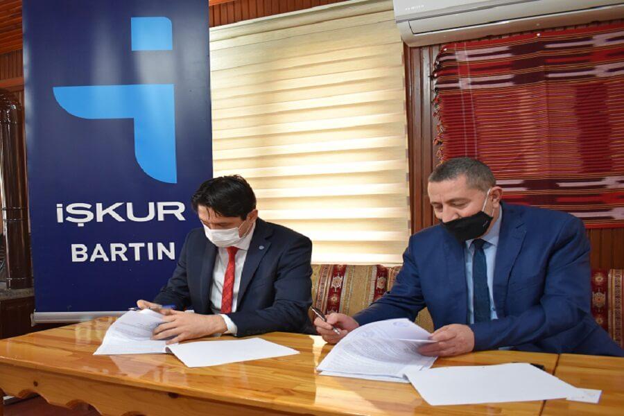 Bartın'da İşbaşı Eğitim Programı Protokolü İmzaladık