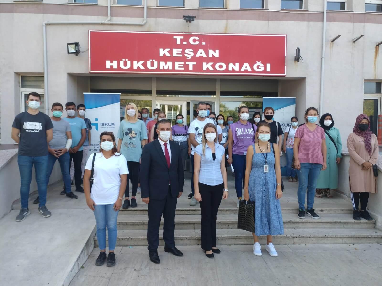 Edirne'de Keşan Hizmet Merkezimiz ve KARDEM Tekstil firması ile Kurs Başlattık